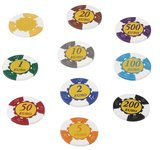 Deluxe 14,5 grams Euro value poker chips