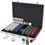 Perfect poker set for beginners with 1000 chips.