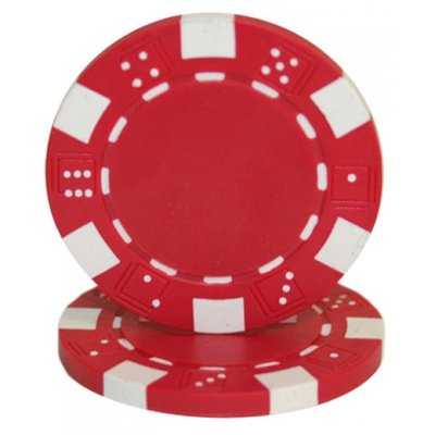 Dice pokerchips rood