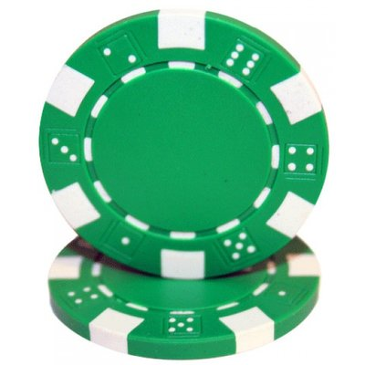 Dice pokerchips groen