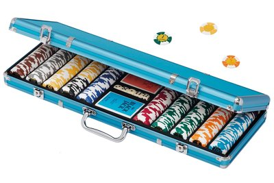 Dal Negro Poker set 500 Euro chips