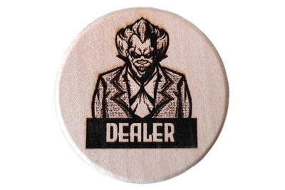 Joker Dealerbutton Hout