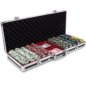 Poker Knights exclusieve poker set.