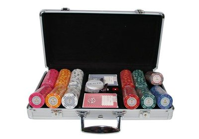 Monte Carlo poker set met 300 pokerchips.